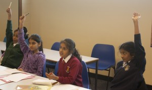 Children Interacting in Lesson